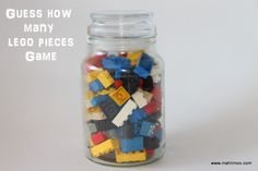 Lego Party Games Guessing Game for the kids and they can take the legos home!