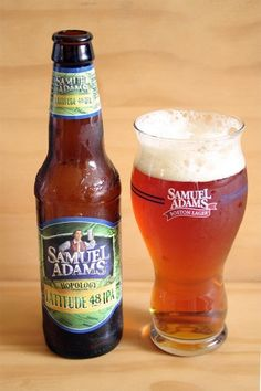 It's time for a glass of Sam Adams Latitude 48 IPA - The balance is beautiful.