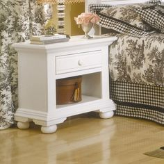 American Woodcrafters Cottage Traditions 1 Drawer Nightstand Finish: Distressed Eggshell White