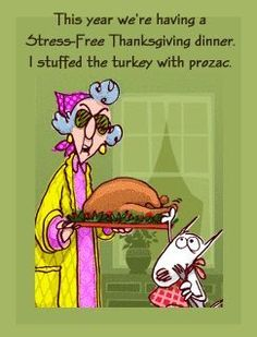 Thanksgiving Cartoons- Maxine | Falling Glitter- Formerly That Tech Chick