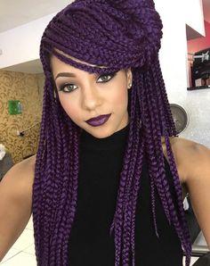 Bold Purple @misaeee_ - http://community.blackhairinformation.com/hairstyle-gallery/braids-twists/bold-purple-misaeee_/