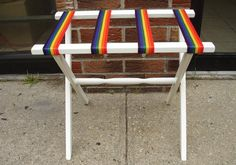Adorable!! Love it, especially to add a pop of color in such a unique way!   Check out this item in my Etsy shop https://www.etsy.com/listing/464902791/pride-luggage-stand