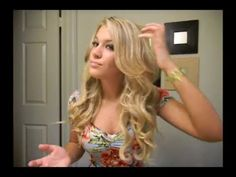 MIND BLOWN!! beach waves! awesome tutorial!!!!! She does a pin curl and presses it with a flat iron.