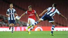Serge Gnabry's superb volley gave Arsenal Under-21s a well-earned win over West Brom Under-21s at Emirates Stadium to continue their promising start to the season.