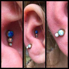 Conch og øreflip med opal clusters, begge lavet i frihånd af miiiiiig, som du kan finde hos Artistic i dag 11-14 ❤️🙏🏾