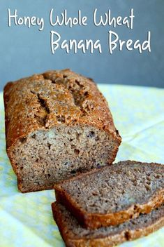 This Honey Whole Wheat Banana Bread will satisfy your banana bread craving while keeping you full all morning!