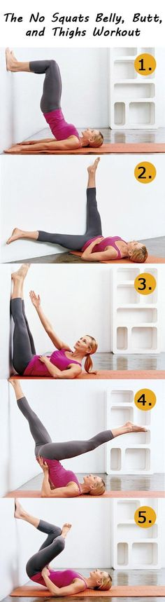 No Squats Workout for Belly, Butt & Thighs. You can do this while watching tv.