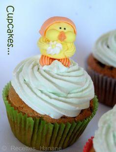 cupcake aux pistaches fourrés fraise