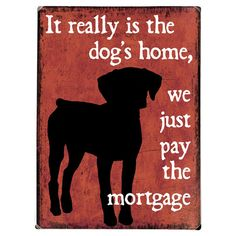 Found it at Wayfair - Dogs Home Wood Sign