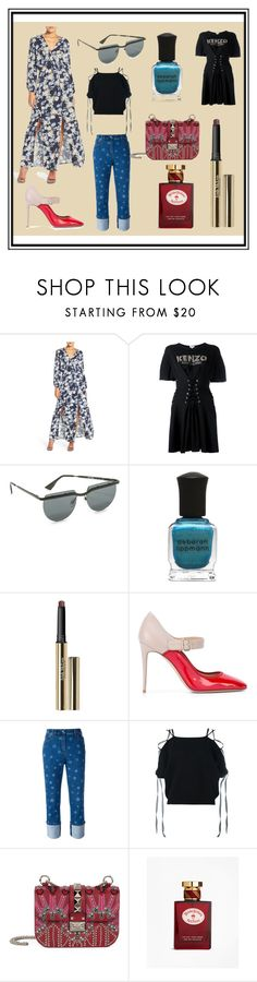"""""""Soft Copy Of New Fashion"""" by cate-jennifer ❤ liked on Polyvore featuring Fraiche By J, Kenzo, Le Specs, Deborah Lippmann, Trish McEvoy, Valentino, Brooks Brothers and vintage"""