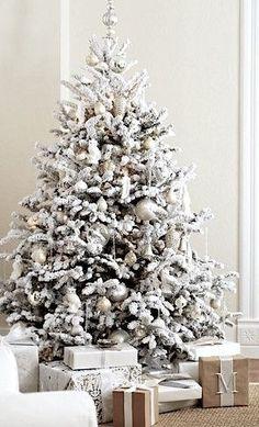 Decoración de arbolitos navideños 2016  blancos