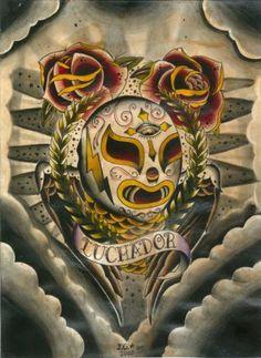 luchador tattoo art