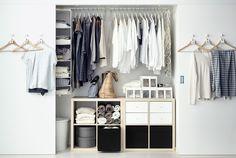Bilde av skapplass med skyvedører og møbler og skapinnredning fra IKEA.