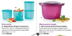 Tupperware Catalog and Brochures - Mid-December Brochure Valid from December 9, 2017 - January 12, 2018.  Get Direct sales, food storage, kitchen cooking, microwave, lunch containers, starlight celebration, micro pitcher set, quick shake containers, baby stages feeding set duo, terrific tea party, medium, eco water bottles, deep basic bright containers, microwave round pasta maker, stuffable bowls and more..