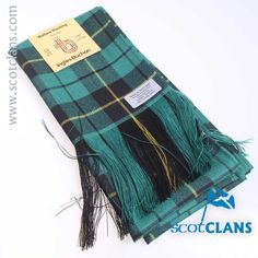 Pure wool sash in Wallace Hunting Ancient tartan - available from ScotClans