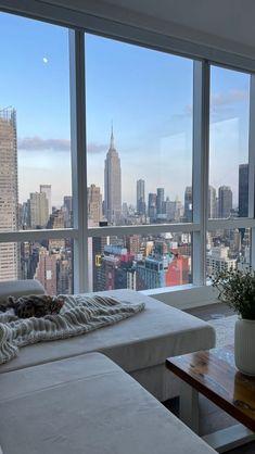 City View Apartment, Dream Apartment, New York Life, Nyc Life, City Vibe, Window View, City Aesthetic, Dream City, Concrete Jungle