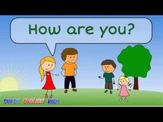 ♫ How are you? or How old are you? - Song for kids. Hello Songs Preschool, Hello Song For Kids, Kindergarten Songs, Hello Hello Song, Songs For Toddlers, Lesson Plans For Toddlers, Kids Songs, English Lessons For Kids, Kids English