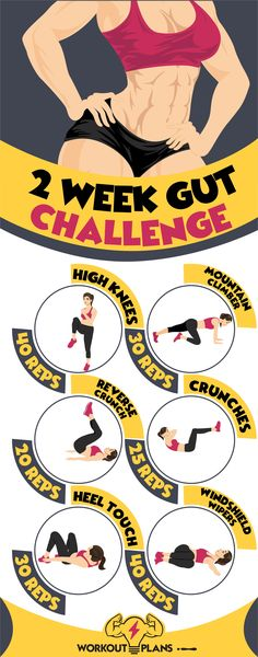 2 Week Gut Challenge - Upper Abs, Middle Abs, Lower Abs Workouts - Butt And Gut Challenge - Fitness Workouts, Fitness Herausforderungen, Mens Fitness, At Home Workouts, Health Fitness, Health Diet, Fat Workout, 2 Week Workout Plan, Lower Ab Workouts