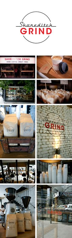Sean Gallagher for Shoreditch Grind. Time for coffee - packaging PD Coffee Shop Branding, Coffee Shop Logo, Cafe Branding, Food Branding, Restaurant Branding, Coffee Packaging, Coffee Shops, Restaurant Bar, Coffee Places