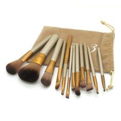 12PC NK4 Cosmetic Makeup Brush Kit