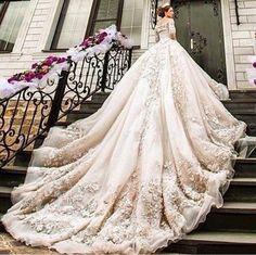 Cheap gown meaning, Buy Quality gown material directly from China gowns with long sleeves Suppliers: Luxury Cathedral/Royal Muslim Wedding Dresses Saudi Arabic Bridal Gowns Appliques Off Shoulder Wedding Gowns robe de mariage Long Gown For Wedding, Wedding Dress Train, 2016 Wedding Dresses, Long Sleeve Wedding, Bridal Dresses, Luxury Wedding Dress, Dresses 2016, Royal Wedding Gowns, Muslim Wedding Dresses
