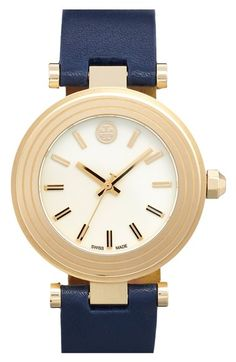 Tory Burch Leather Strap Watch, 35mm available at #Nordstrom