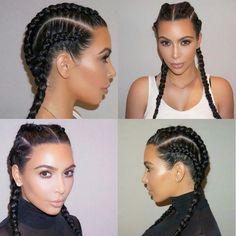 Hairstyle: Kim Kardashian braids hair #TrendSetter