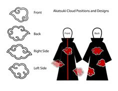 akatsuki clouds. definitely will be helpful when I make my Akatsuki shirt!