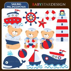 Description: 12 graphic elements of sailing theme. Perfect for your craft projects, paper products, invitations, stationery, scrapbooking, web designs, stickers and many more!