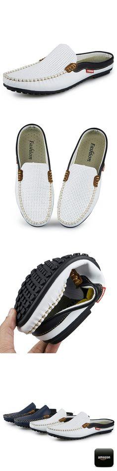 Люксовый Бренд Обувь Летние Мужчины Обувь Мокасины Открытой Спиной Backless Обувь Без Спинки Дышащая Кожа Мужчины Обувь для Вождения Удобные