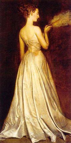Portrait de Mme Pierre Gaudreau par Antonio de La Gandara, né en Décembre 16, 1861.