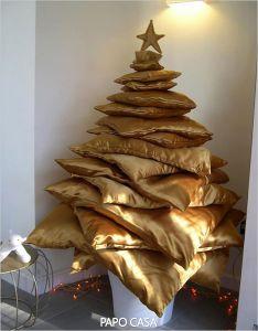 árvore de natal de almofadas