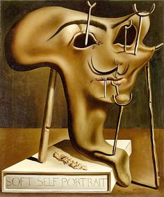 """Dali Salvador Soft Self Prt Roast Ham 1941 Figueras Foundation Gala Salvador Dali (from <a href=""""http://www.oldpainters.org/picture.php?/32745/category/338"""">serra</a>)"""