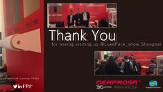 Thank you for having visiting us!   We are really pleased to see that you had a wonderful experience at #LuxePack_show Shanghai.   Looking forward to seeing you next Edition!   www.derprosa.com  #premiumluxuryfilms  #packaging #design #printing