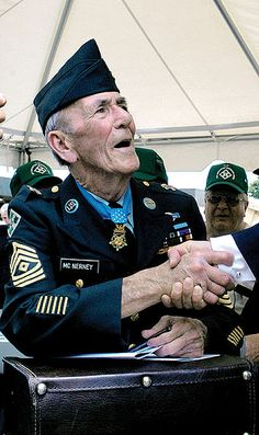 """David H. McNerney - Medal of Honor recipient for actions at Polei Doc, later named """"The Valley of Tears"""". Vietnam, March 22, 1967."""