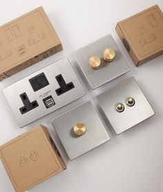 Light switches, dimmers and plug sockets; an extensive, high quality light switch and socket range available in 6 exclusive finishes. Silver Light Switches, Light Switches And Sockets, Touch Light Switch, Toggle Light Switch, Designer Light Switches, Modern Georgian, Electrical Fixtures, New Home Designs, Diy Interior