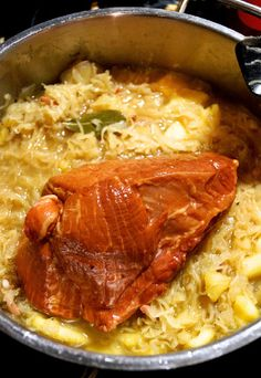 Sauerkraut Recipes, Pork, Meat, Regional, Dinner Ideas, German, Grandma's Recipes, Chef Recipes, Side Dish Recipes