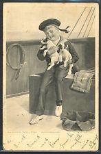~GX074 VIENNE Style a/s ALLANSON ENFANT MARIN SAILOR CHIEN Chiots PUPPY DOGS~