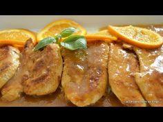Pechugas de Pollo a la Naranja. Receta Fácil y Rapida - YouTube Pollo Chicken, Bbq Chicken, Chicken Recipes, Sausage, Turkey, Cooking Recipes, Chicken Breasts, Mousse, Food