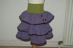 Skirt with butterflies