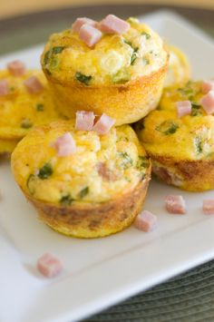 Yum! Mini Omelets: Tasty, Bite-Sized, and Protein-Packed Breakfast Treats. - mix up the ingredients for variety. Photo does not match the recipe and has ham in them, recipe is wrapped with bacon.