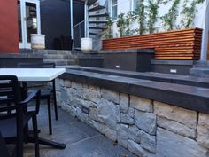 Italian Kitchen -Newlands - Viking Random Cladding - Autumnstone - Devon wall capping - Charcoal used to transform this stunning fountain. outdoor area.