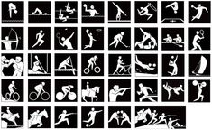 logo pics for each sport in summer Olympics. Perfect for a matching game!