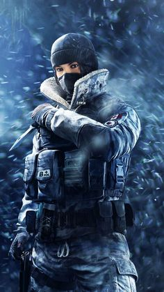Tom Clancy's Rainbow Six Siege, girl soldier, frost, game, 720x1280 wallpaper