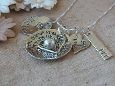 Friendship Necklace  Hand Stamped  Jewellery  by TheSilverWing, $77.00