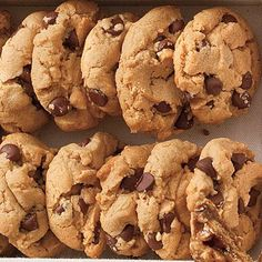Flourless Peanut Butter-Chocolate Chip Cookies | These peanut butter-chocolate cookies taste and look divine! No need to worry about the flour—they're perfect as they are. | #Recipes | SouthernLiving.com