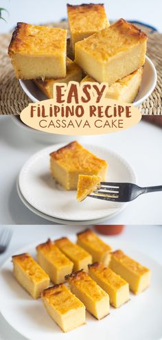 Here's an easy cake recipe for a delicious dessert in any occasion! It's a Filipino delicacy that is rich, creamy, custard-like, and coconutty with a little texture from the grated cassava. Try and enjoy!