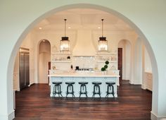 Perfect kitchen - rustic Napa Mediterranean style.  From Hibner Family blog.