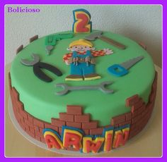 Bob de Bouwer taart / Bob the Builder cake / https://www.facebook.com/bolicioso