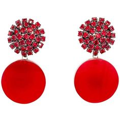 Marni Earring (2.727.520 IDR) ❤ liked on Polyvore featuring jewelry, earrings, red, accessories, bijoux, clip back earrings, red earrings, earring jewelry, marni jewelry and marni